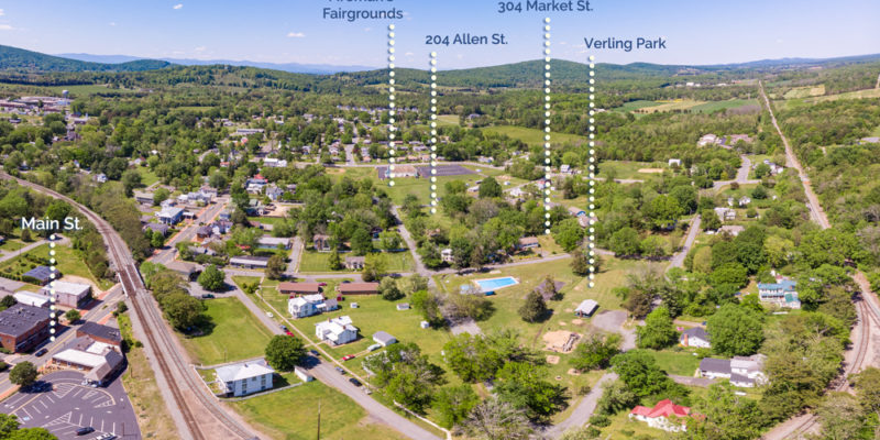gordonsville park network drone photo